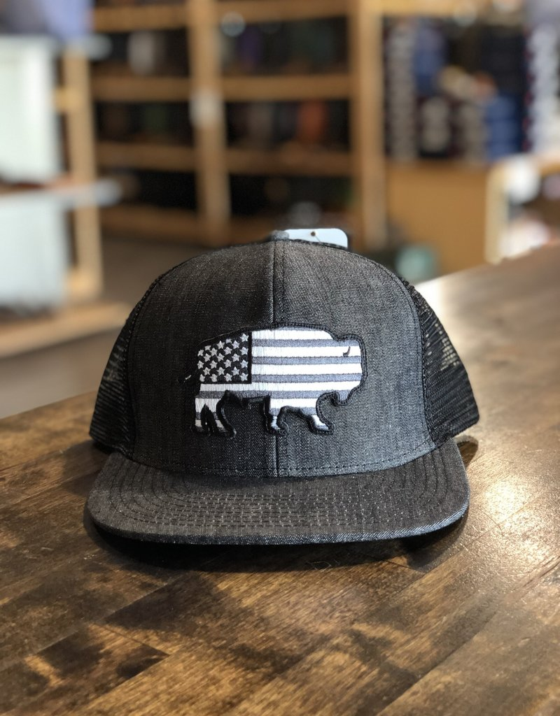 Red Dirt Hat Co. Red Dirt Hat Co. Denim USA Buffalo Cap