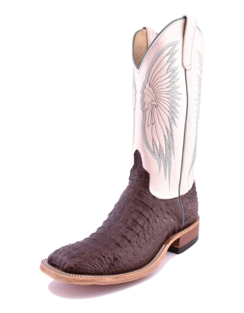 Anderson Bean Boot Company Anderson Bean   Ladies Chocolate Lux Hornback Caiman Boots