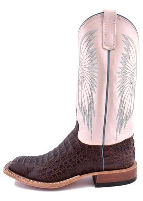 Anderson Bean Boot Company Anderson Bean | Ladies Chocolate Lux Hornback Caiman Boots