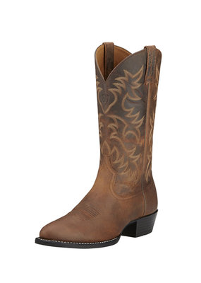 Ariat International, Inc. Ariat | Brown Heritage Western R Toe Boot