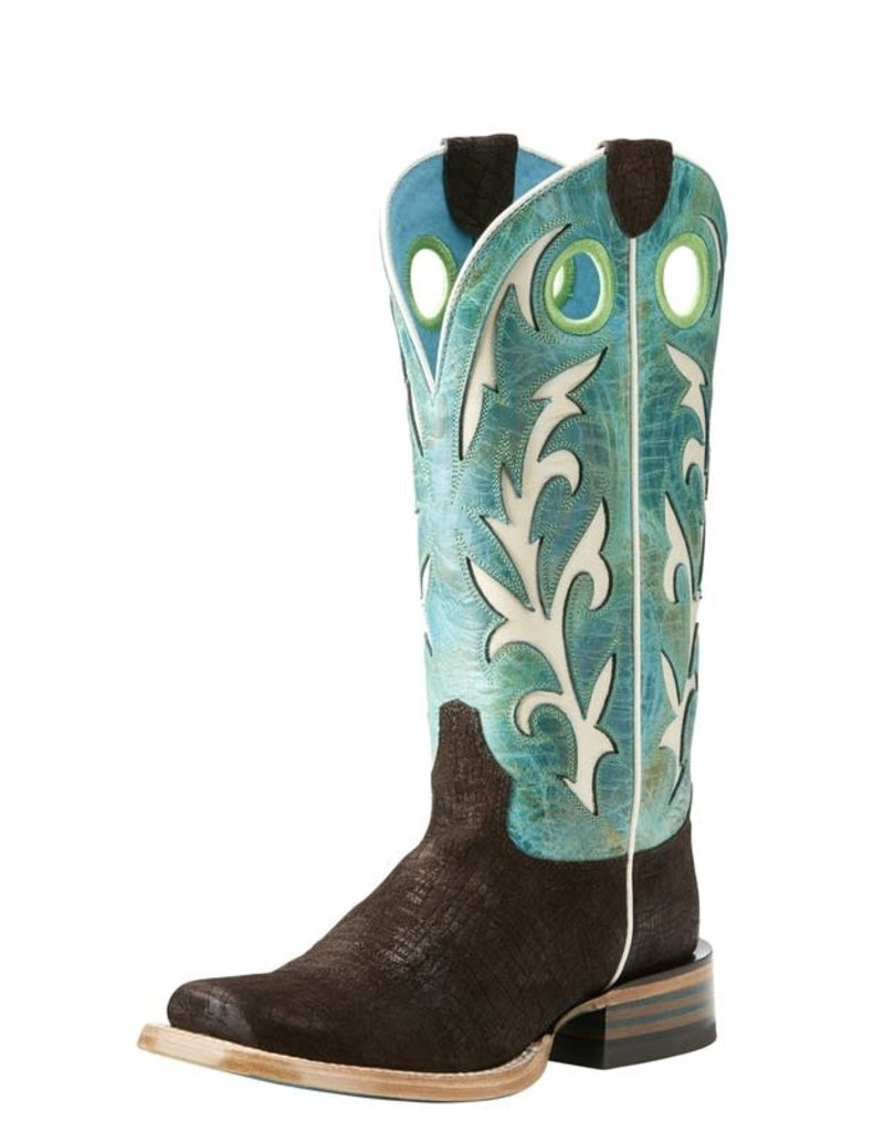 Ariat International, Inc. Ariat | Ladies Chocolate Hippo Print Chute Out Boot