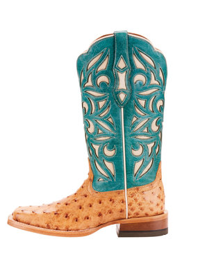 Ariat International, Inc. Ariat | Ladies Light Oak Full Quill Ostrich Boot