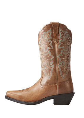Ariat International, Inc. Ariat | Ladies Wood Brown Round Up Square Toe Boot