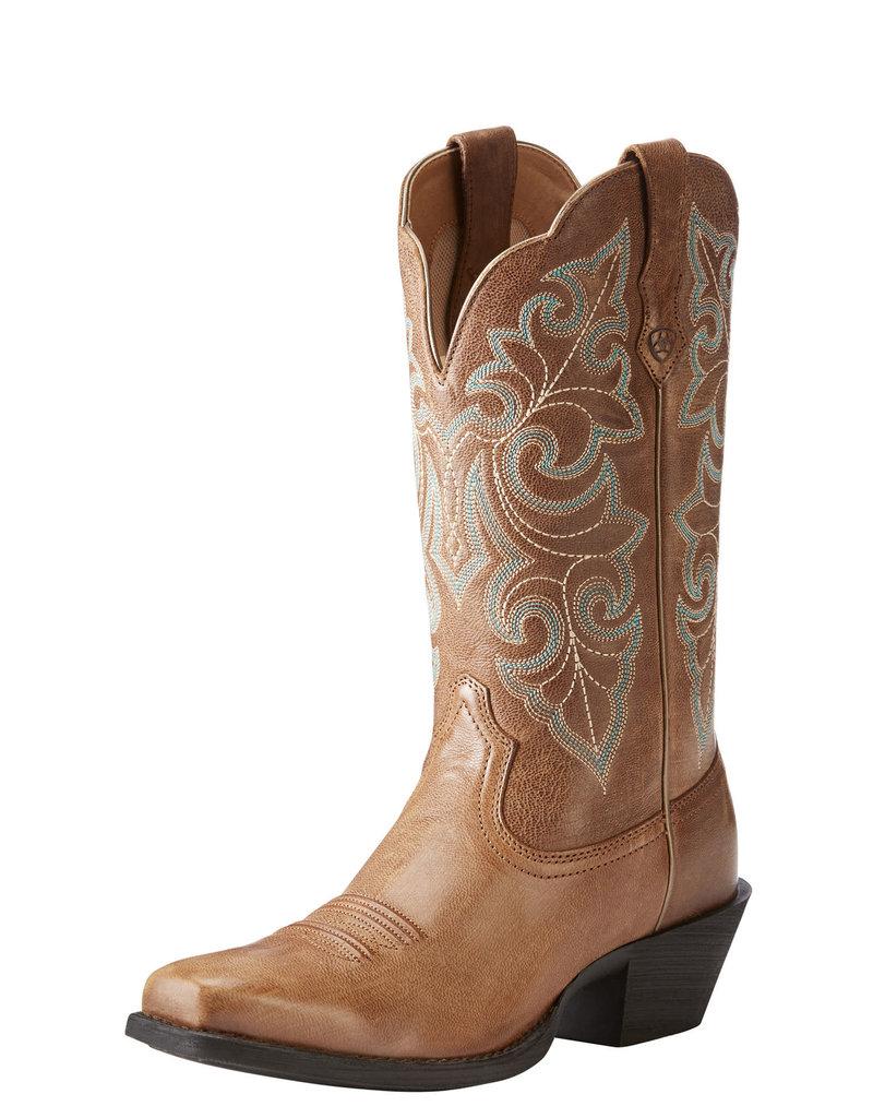Ariat International, Inc. Ariat | Ladies Wood Brown Round Up Square Toe Boot