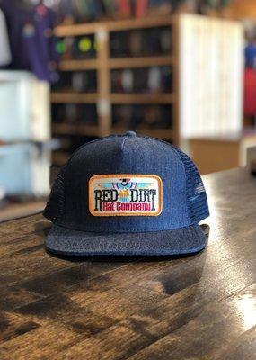 Red Dirt Hat Co. Red Dirt Hat Co Tag T-Bird Denim Trucker Cap