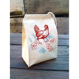Eco Lunch Bag - Chickens