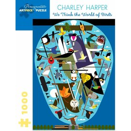 Charley Harper World of Birds Puzzle, 1,000 pc