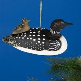 ORNAMENT, Loon with Baby