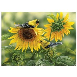 Sunflowers and Goldfinches Puzzle, 1000 piece