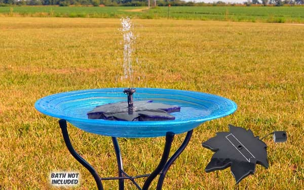 Backyard essentials solar birdbath bubbler tesla lug nut covers