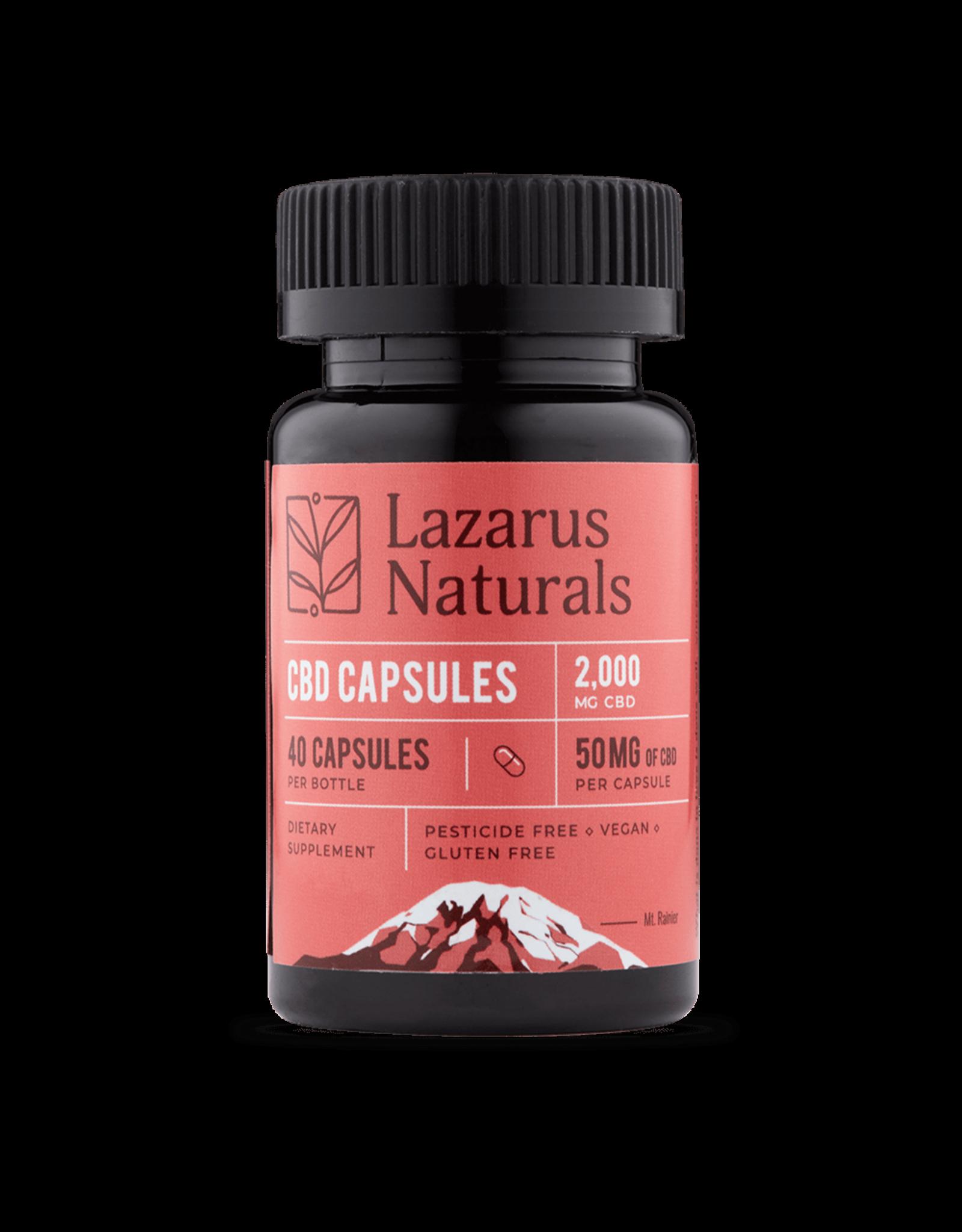 Lazarus Naturals Lazarus Naturals 50mg 40ct CBD Capsules
