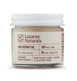 Lazarus Naturals Lazarus Naturals 300mg CBD Coconut Oil 1 fl oz 30 ml