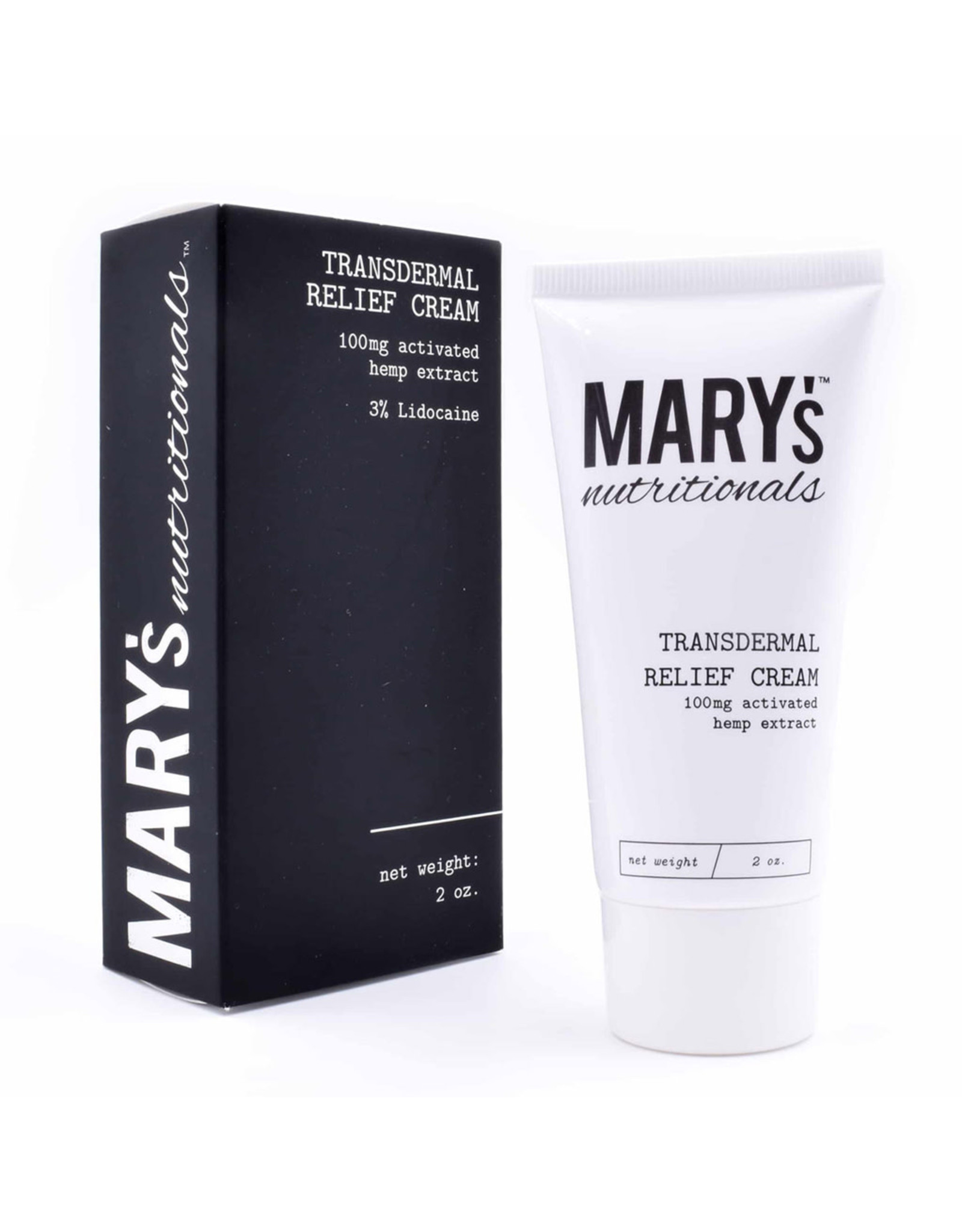 Mary's Nutritionals Mary's Nutritionals 100mg 2oz Transdermal Relief Cream