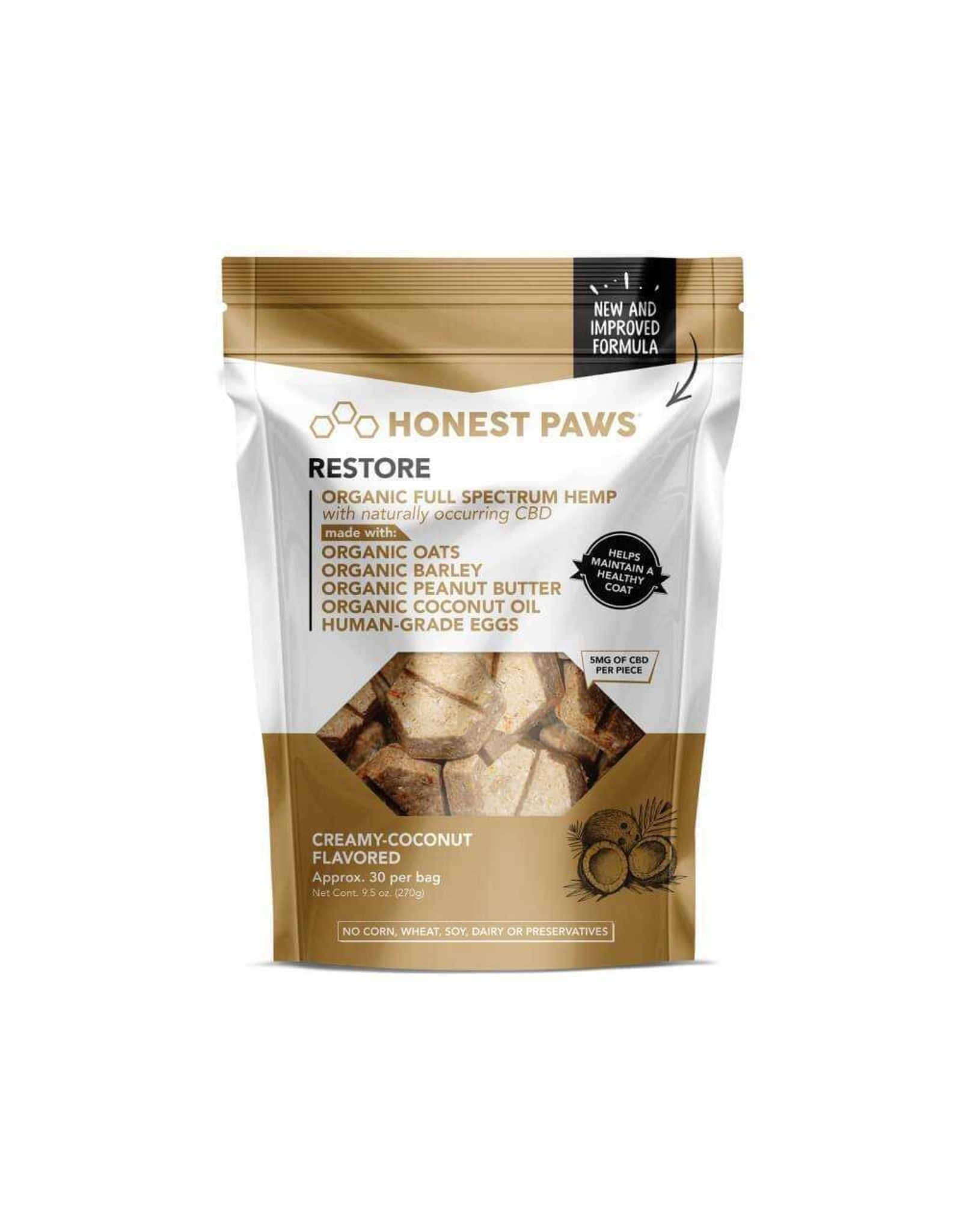 Honest Paws Honest Paws Restore Healthy Coat Dog Treats