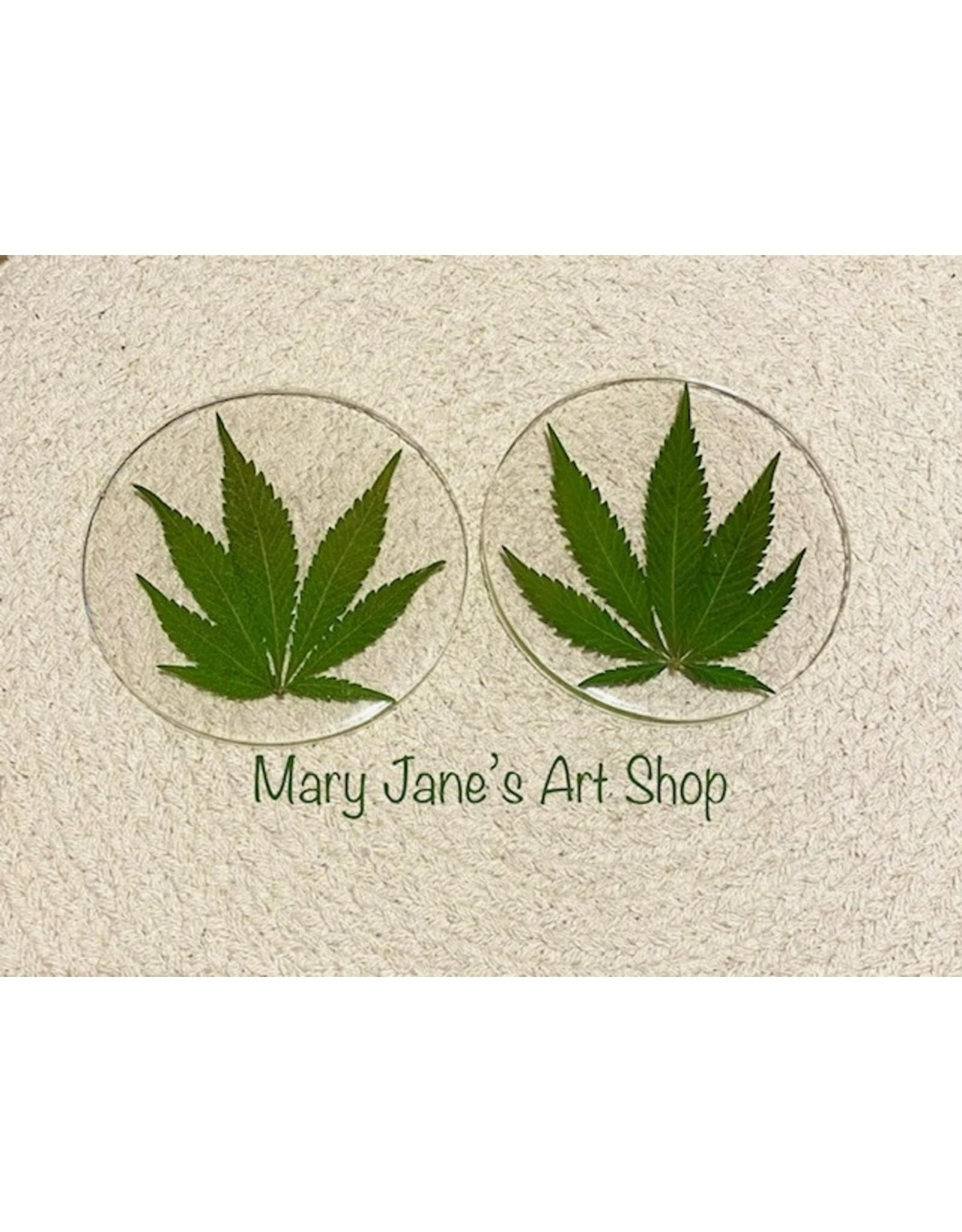 Mary Jane's Art Shop Mary Jane's Clear Leaf Coaster