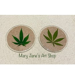 Mary Jane's Art Shop Mary Jane's  Cork Coaster