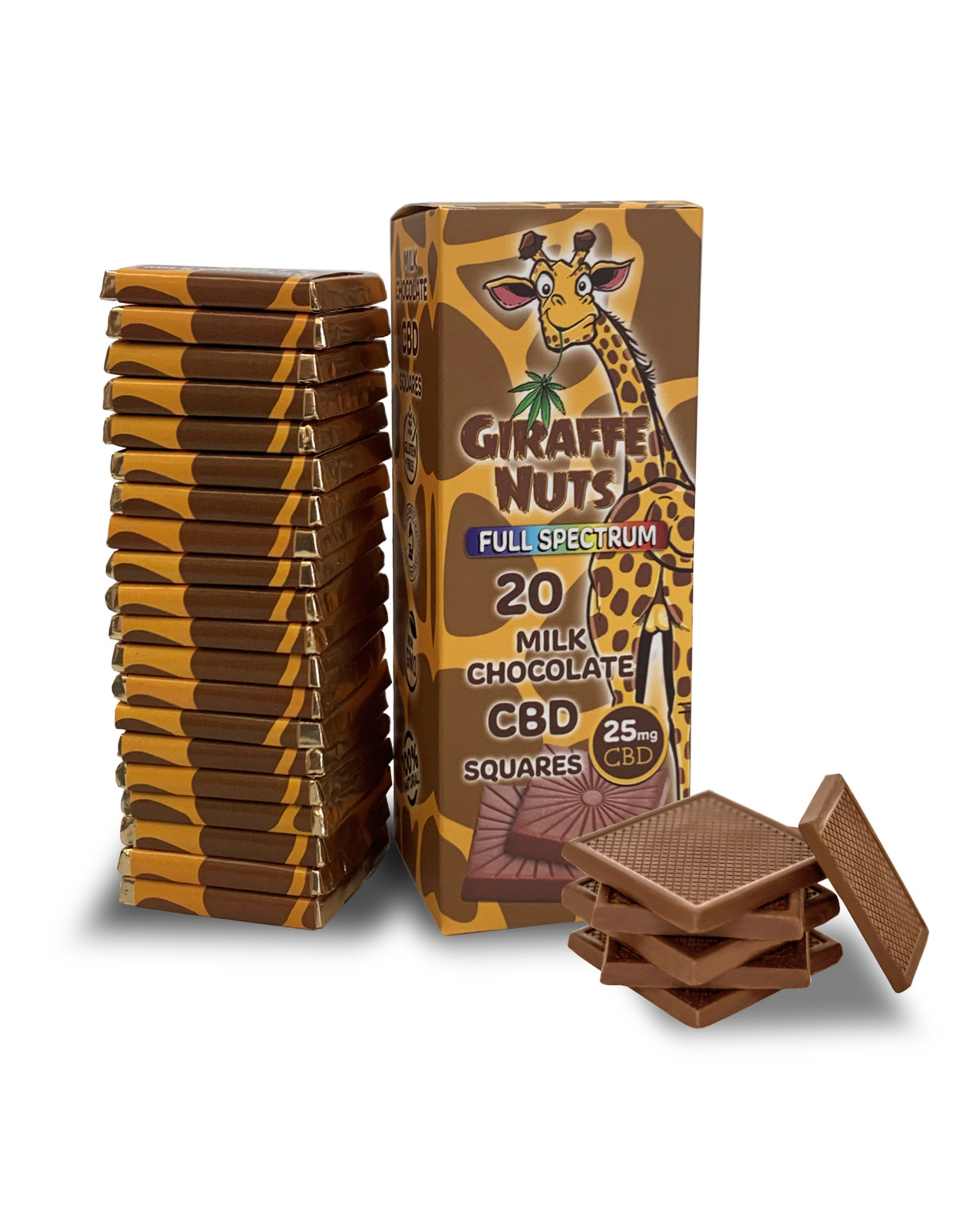 Giraffe Nuts Giraffe Nuts 25mg Milk Chocolate Square