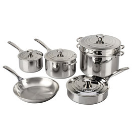 Le Creuset Le Creuset 10pc Stainless Steel Pot Set