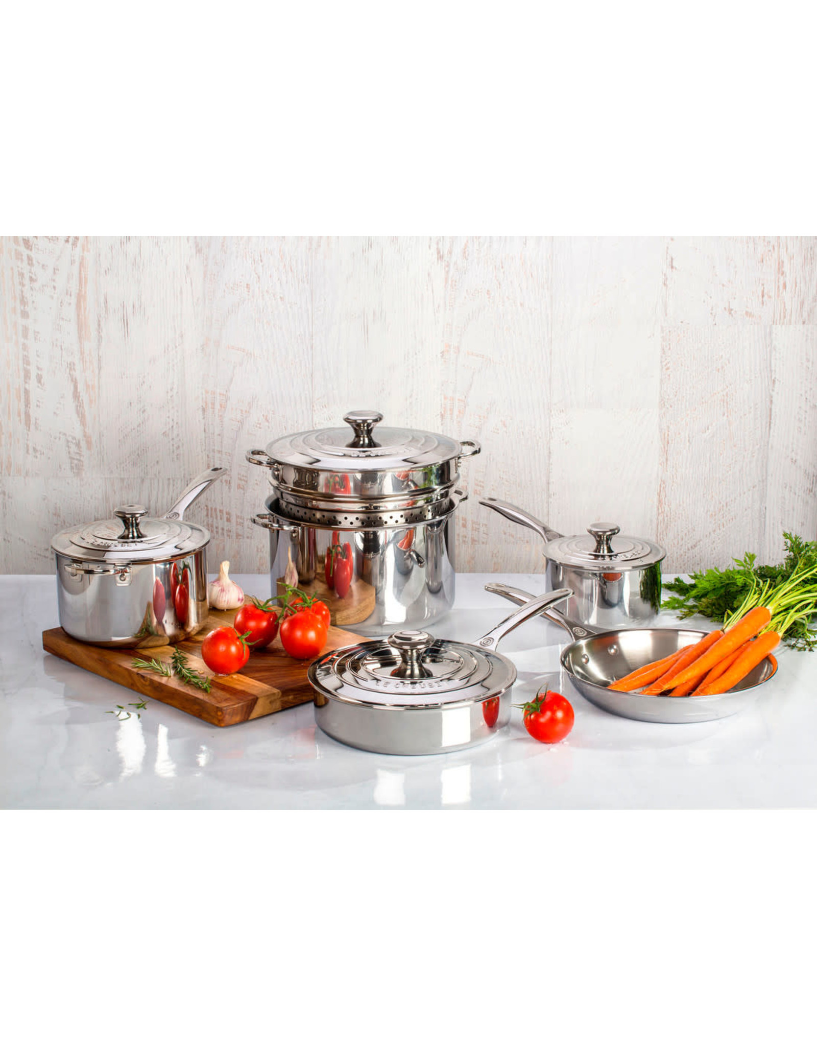 Le Creuset Le Creuset 10pc Stainless Steel Pot Set