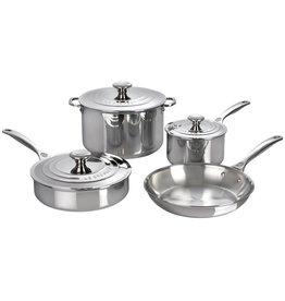 Le Creuset LeC 7pc Pot Set Stainless Steel