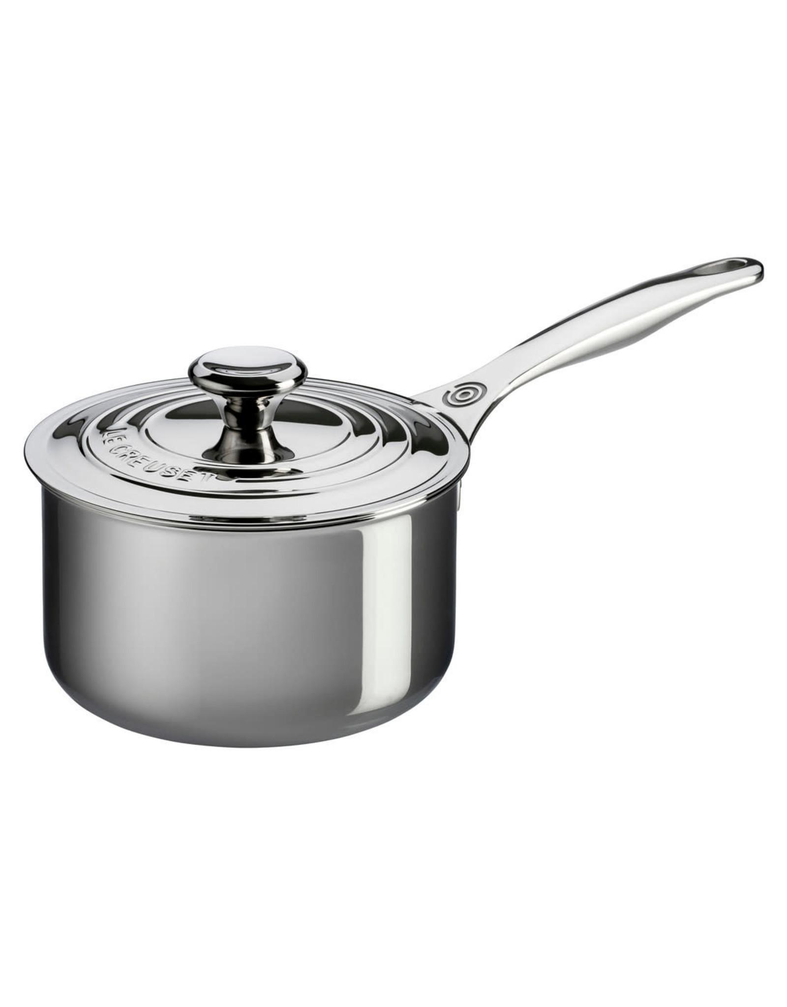 Le Creuset LE CREUSET-4qt Stainless Steel Saucepan w Lid