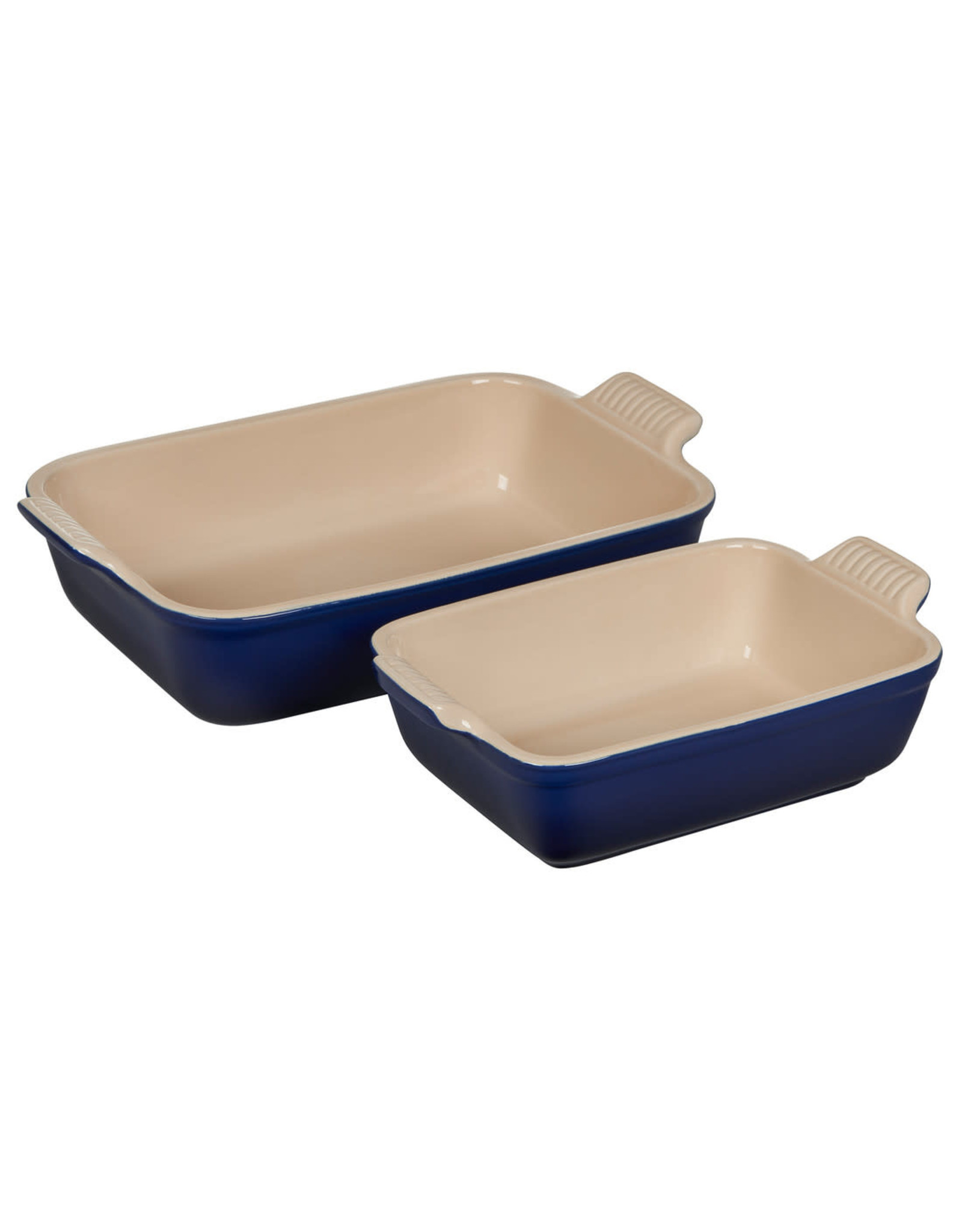 Le Creuset Le Creuset Set of 2 Heritage Rectangular Dishes - Indigo
