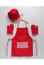 Design Imports DI Red Gingham Kid Chef Set