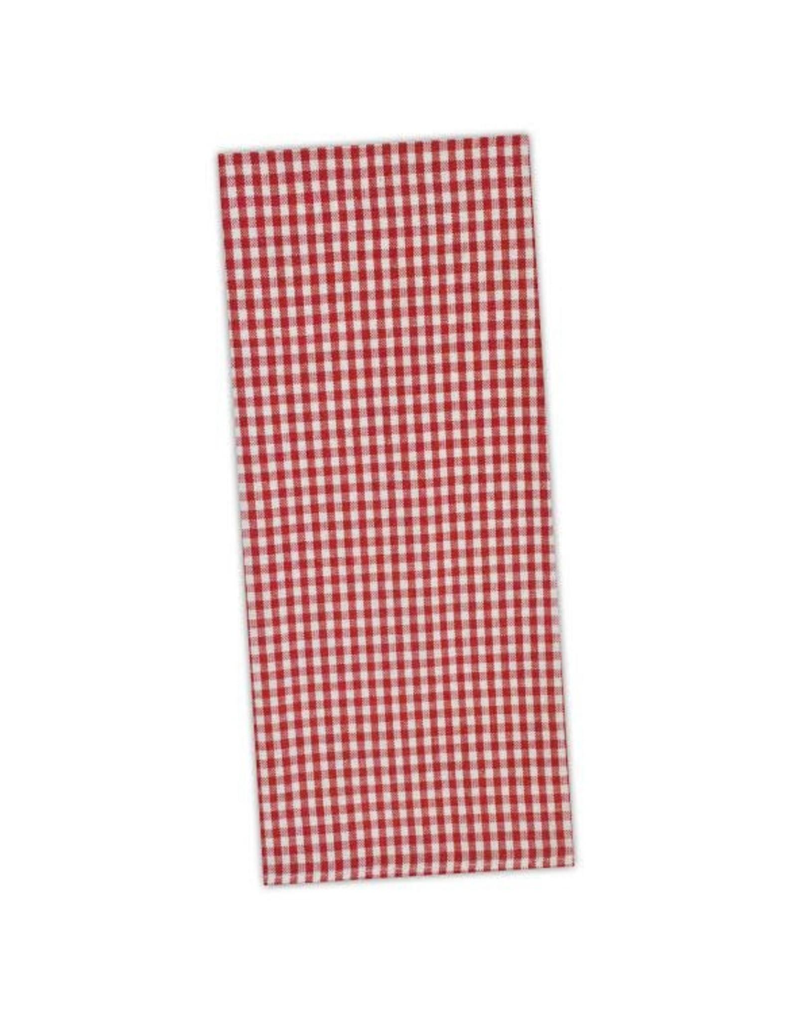 Design Imports DI Tango Red Chef Check Towel