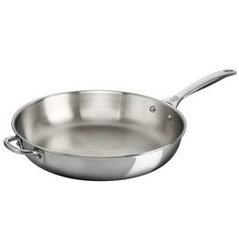 """Le Creuset Le Creuset 12.5"""" Stainless Steel Fry Pan w/handle"""