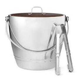 FORTESSA FORTESSA Crafthouse Round Ice Bucket w/Tongs Set