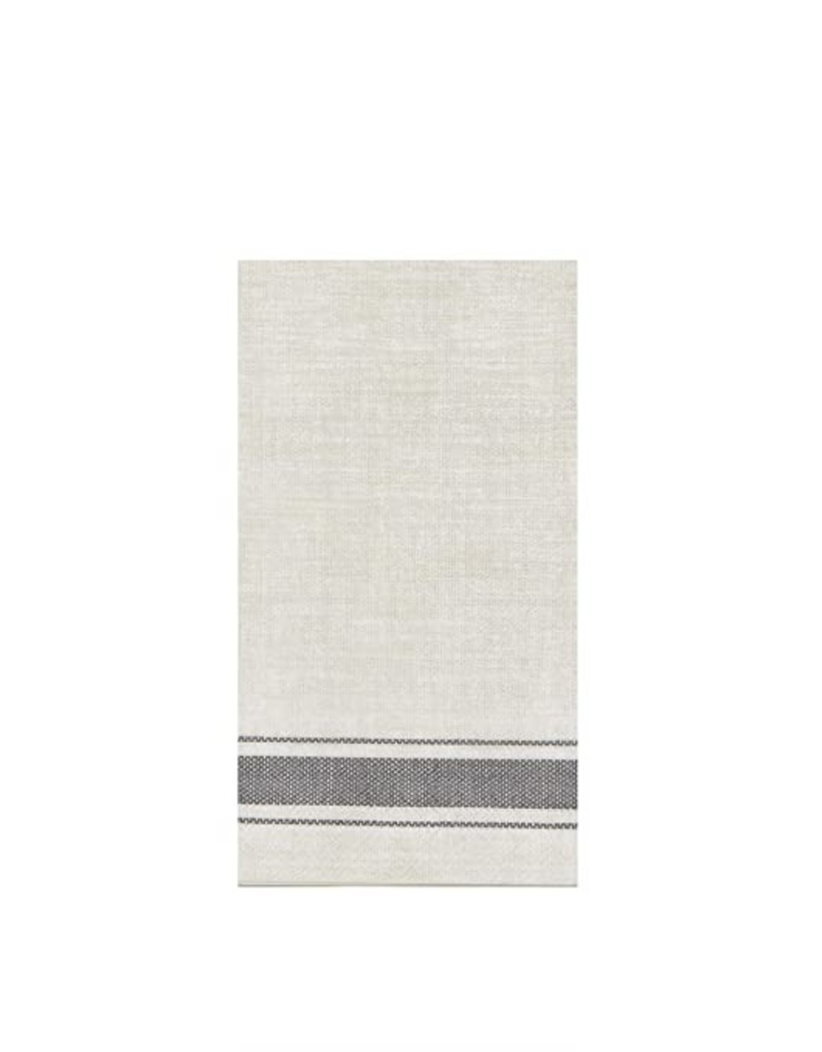 HARMAN Bistro Stripe Paper Guest Napkins Grey