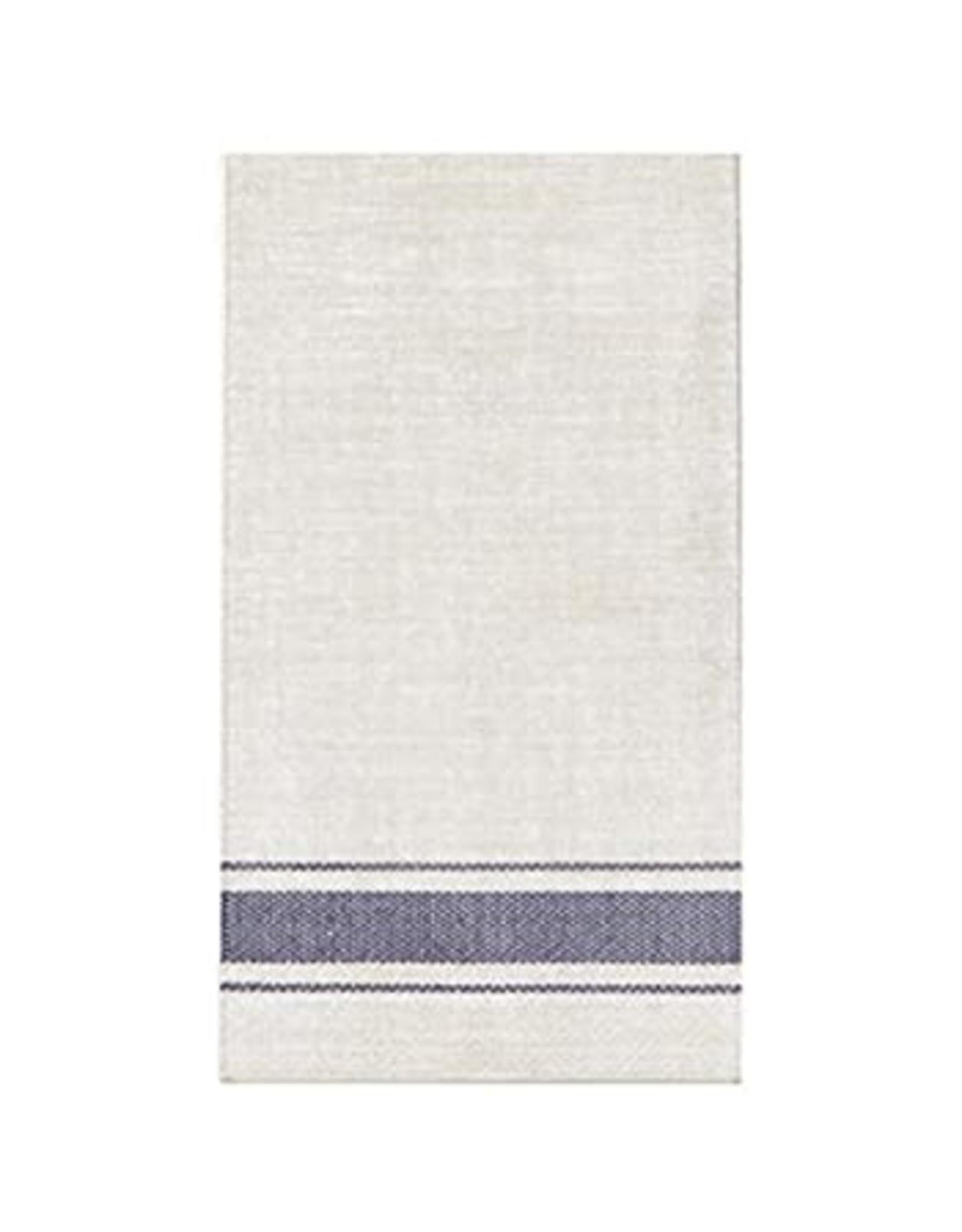 HARMAN Bistro Stripe Paper Guest Napkins Blue