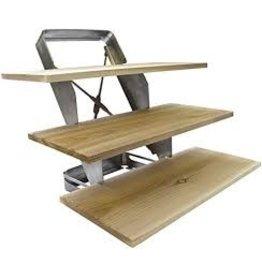 The Companion Group TCG - Stainless 3-Tier Plank Rank w/Cedar Planks