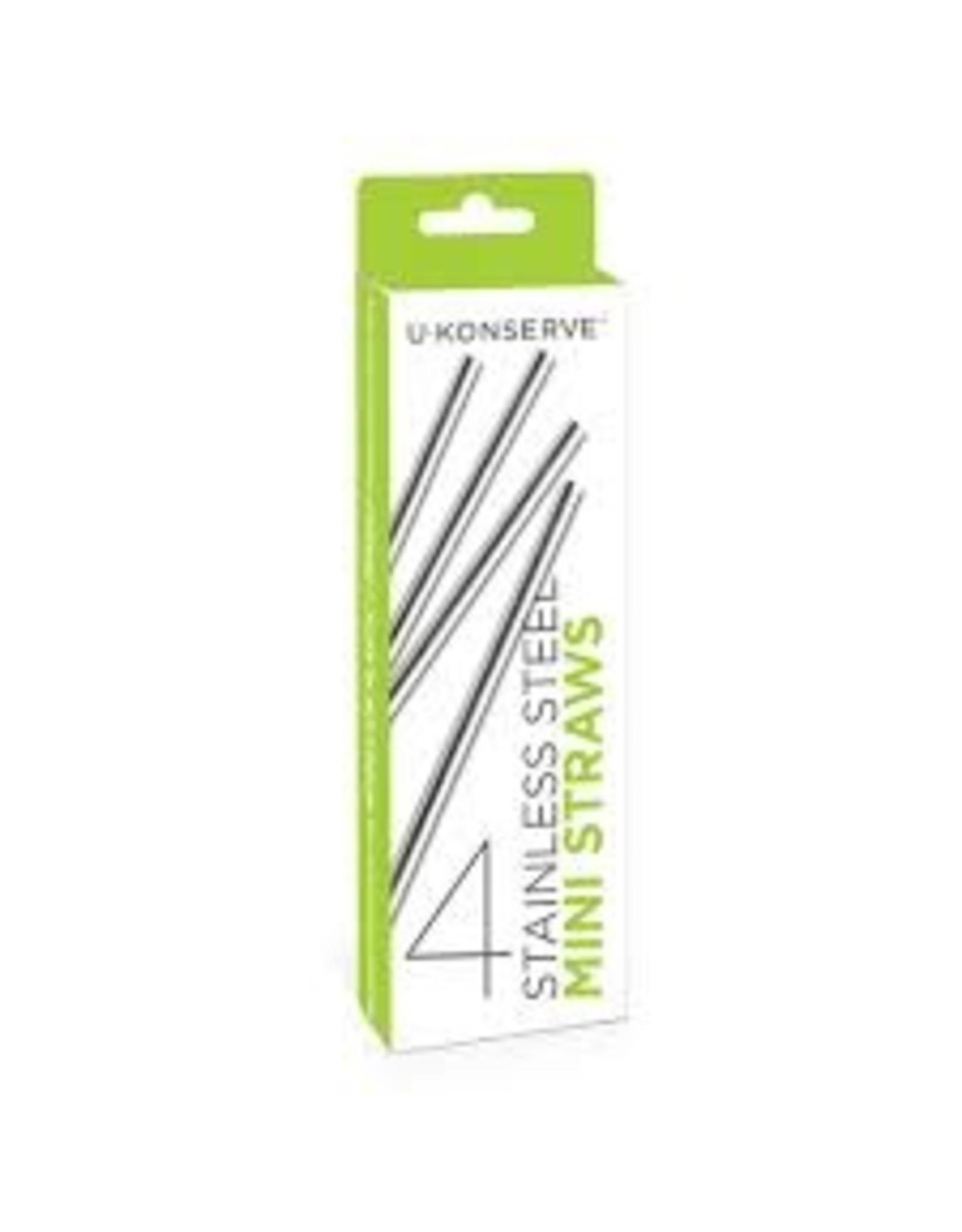 UK S/S Mini Straws 4 Pack