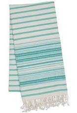 Design Imports DII Aqua Mint Stripe Fouta Throw