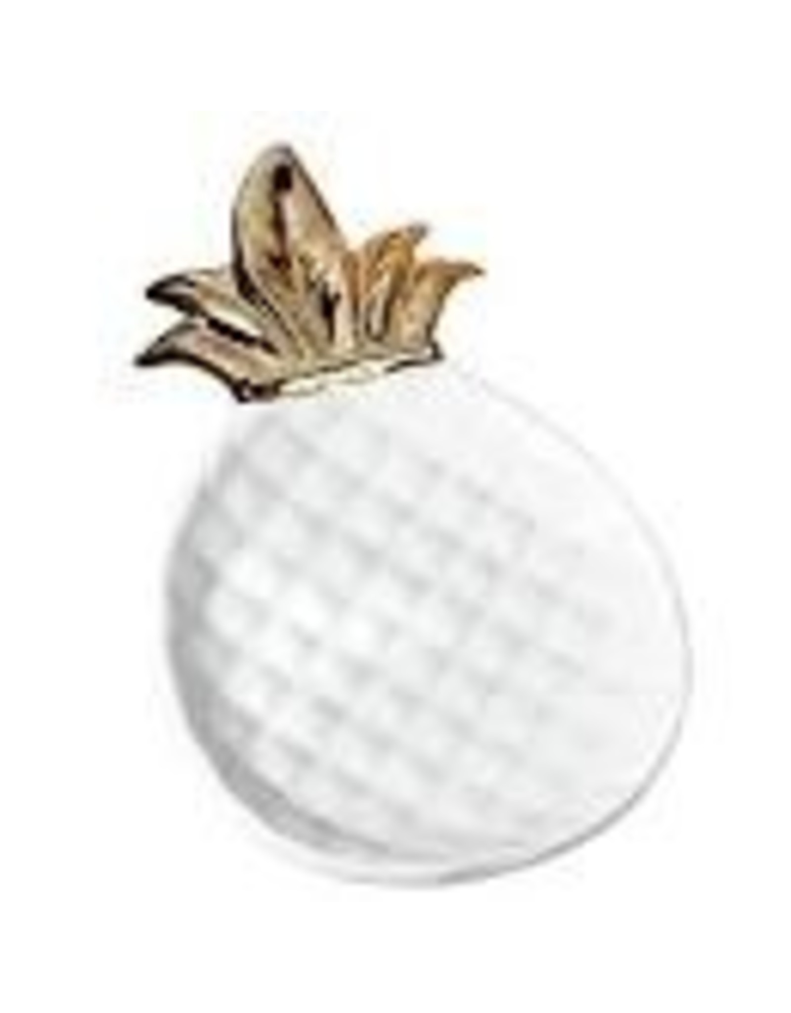 Design Imports DII Small Gold Pineapple Plate