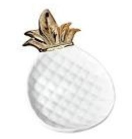 Design Imports DII Large Gold Pineapple Plate