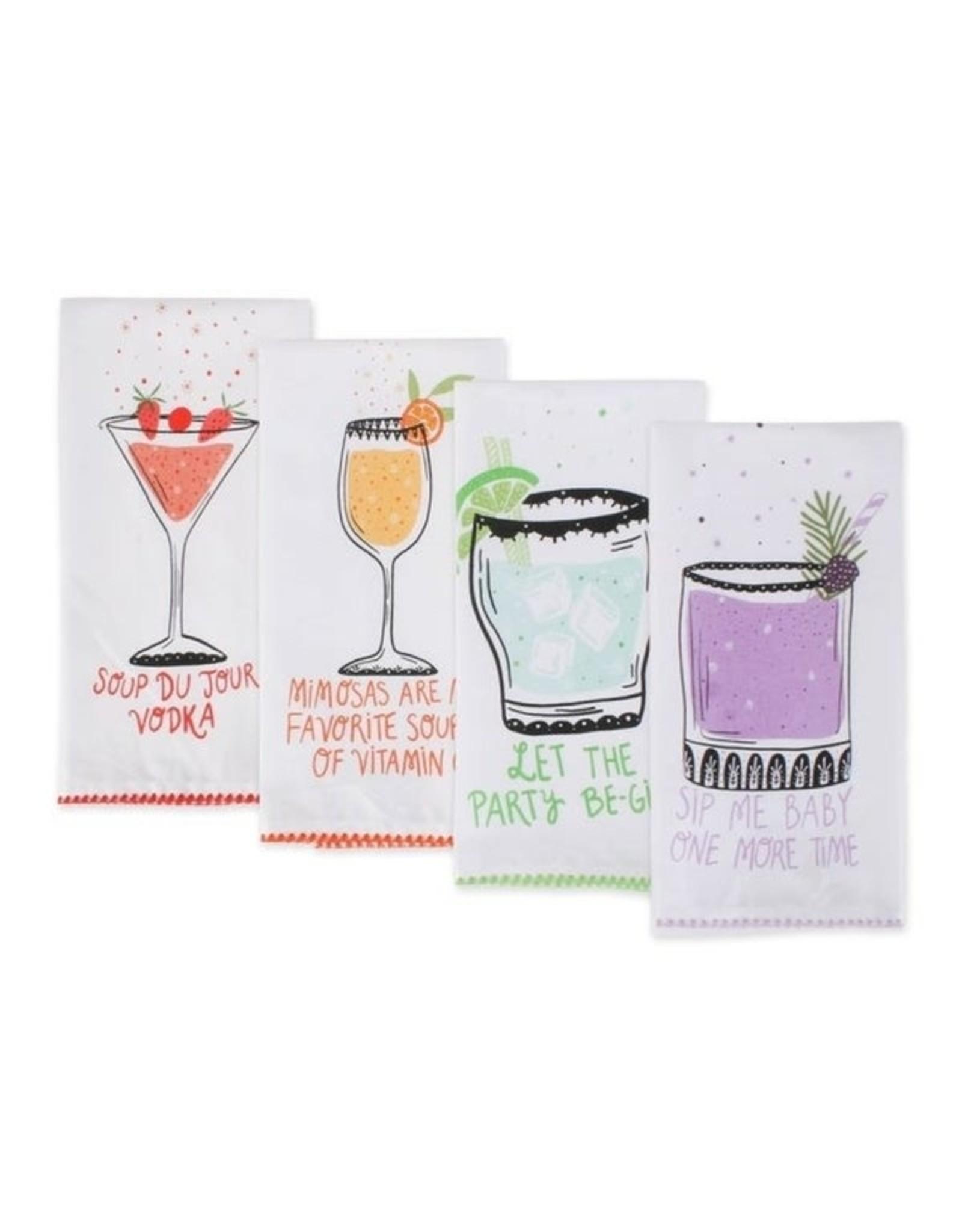 Design Imports DII Sassy Cocktails Dishtowel