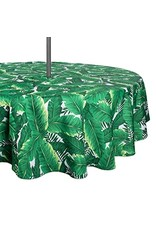 "Design Imports DI Banana Leaf 60"" Round Unbrella Tablecloth"