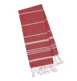 Design Imports DI Ribbon Red Small Fouta Towel