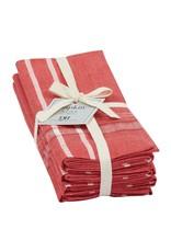 Design Imports DI Red French Chambray Napkin Set x4