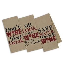 Design Imports DI Wine Thoughts Printed Dishtowel