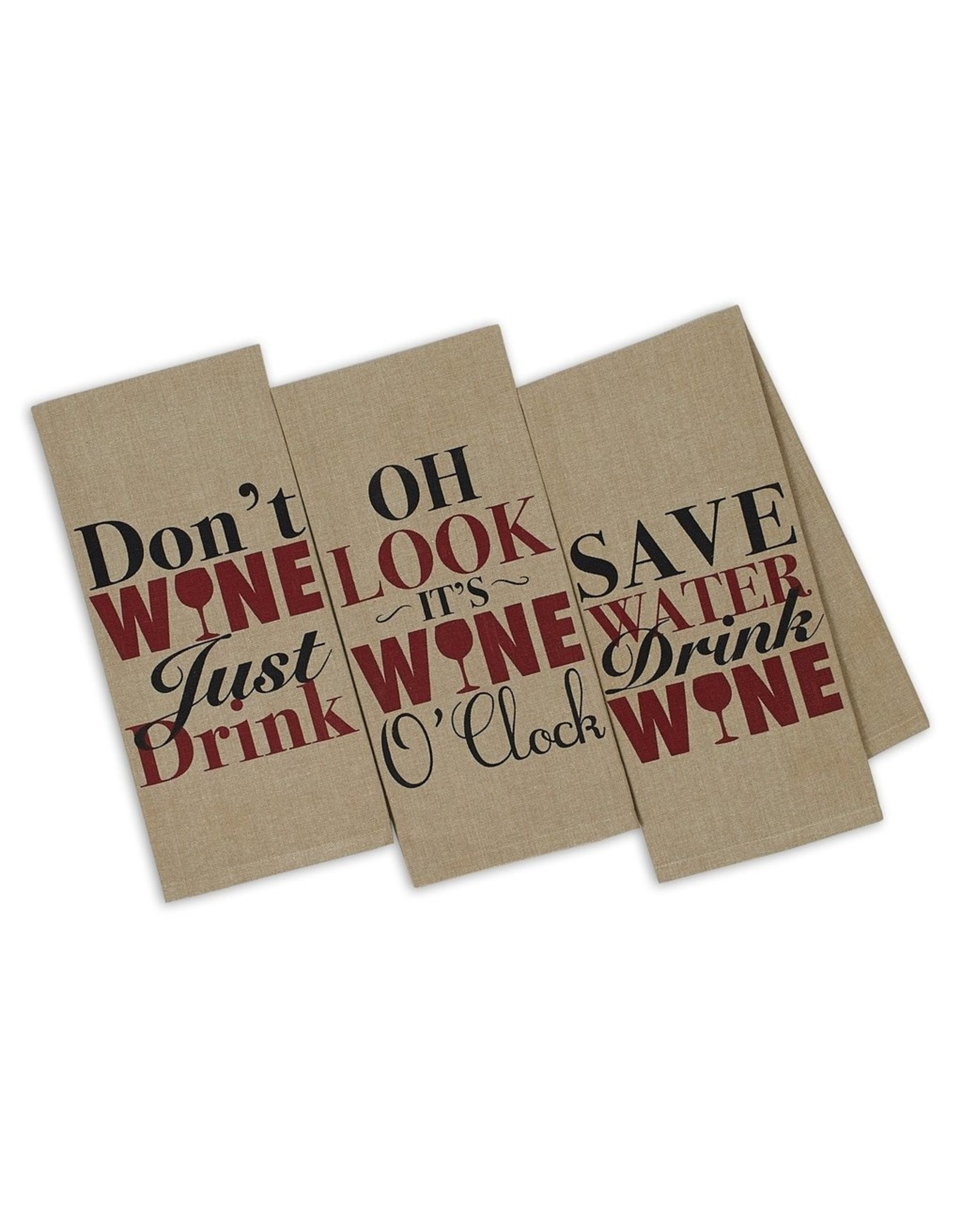 Design Imports DI Wine Thoughts Printed Dishtowel