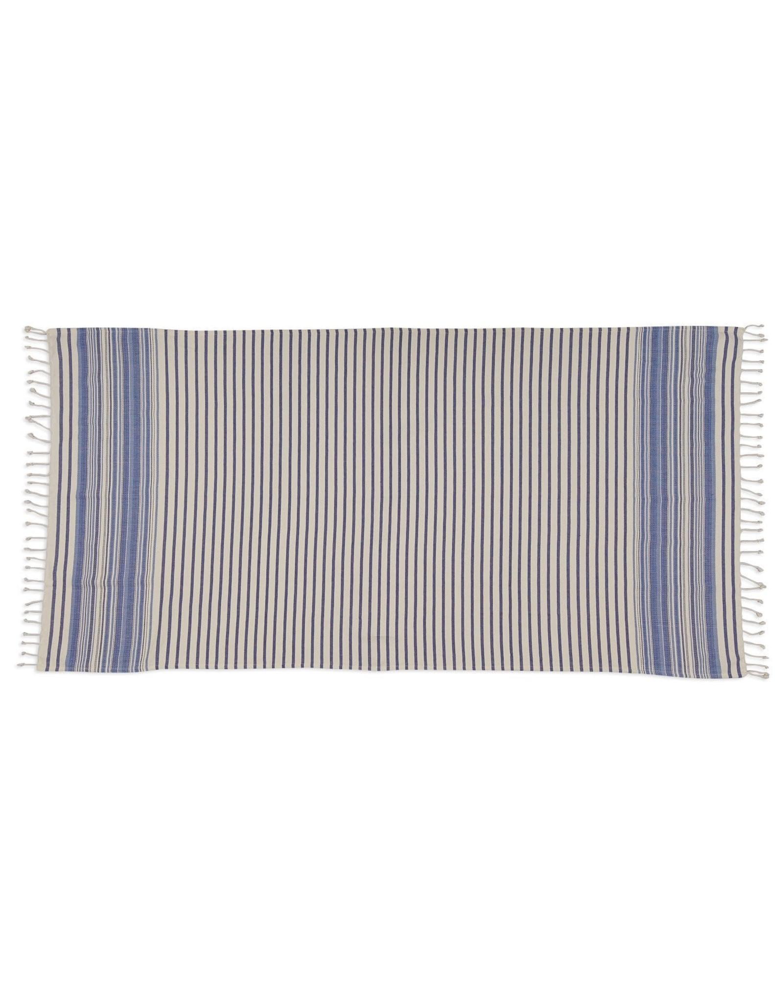 Design Imports DII Indigo Stripe Fouta Throw