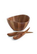 Nambe NAMBE Harmony Salad Bowl & Serve