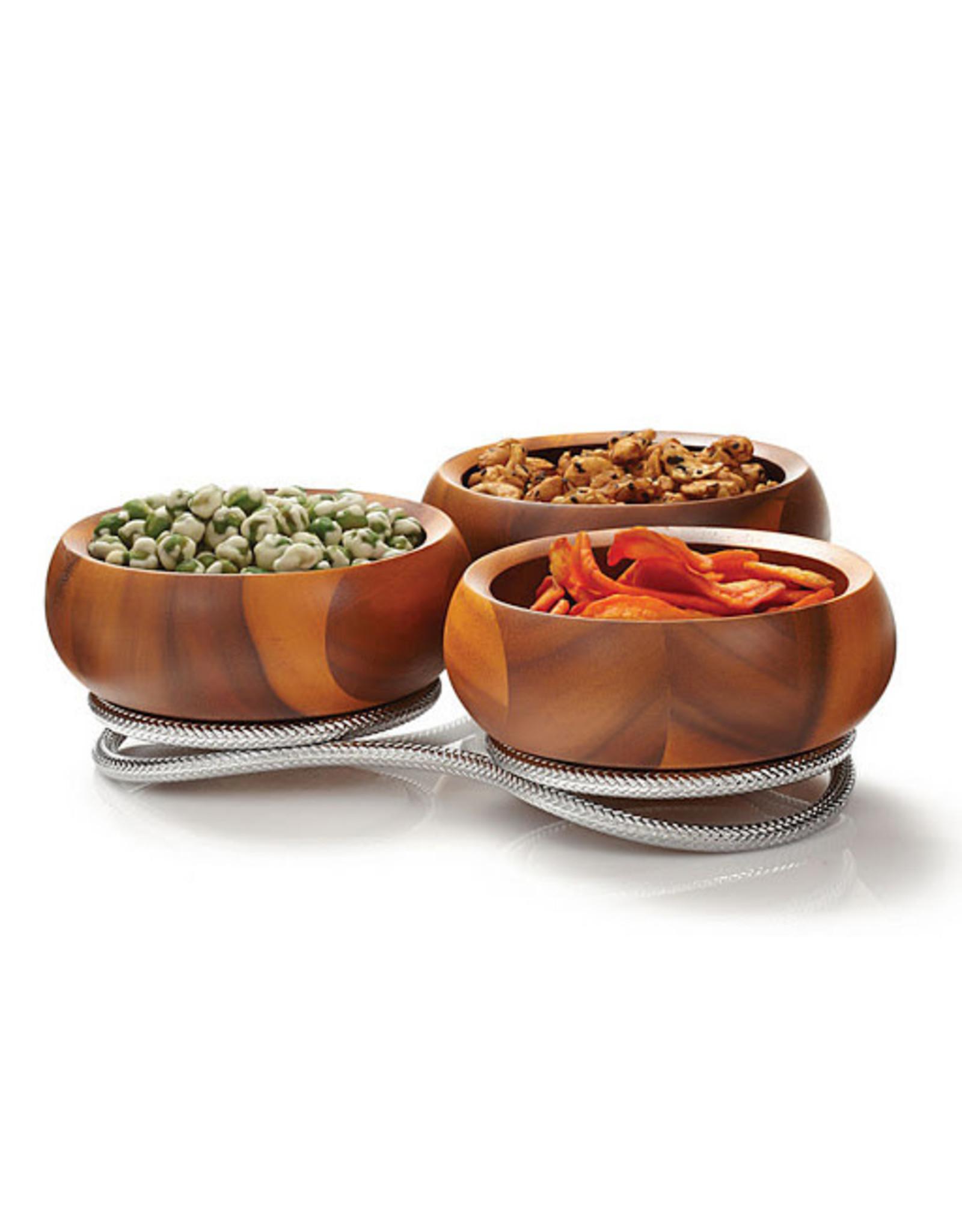 Nambe NAMBE Braid Trio Condiment Dish