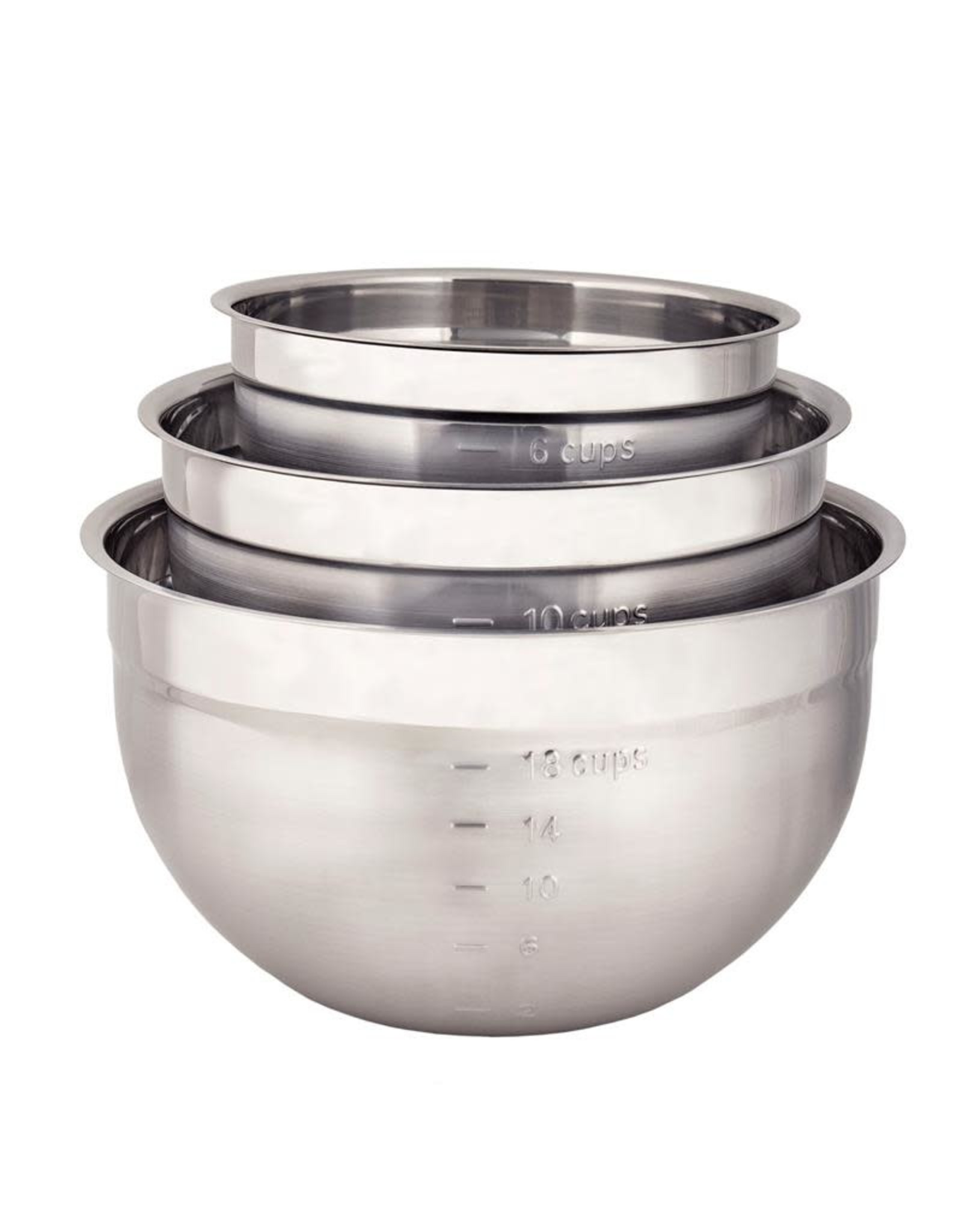 Cuisipro CUISIPRO Stainless Steel 3pc Bowl Set