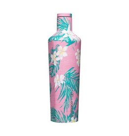 CORKCICLE - Canteen 25oz Vineyard Pink Tropical flowers