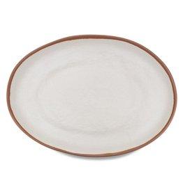 """Q-Squared Q Squared Potter Terracotta 18""""x13"""" Oval Platter"""