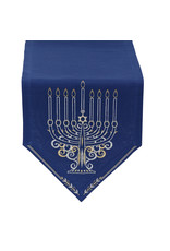 Design Imports DI Menorah Embroidered 14x68 table runner